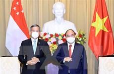 Chủ tịch nước Nguyễn Xuân Phúc tiếp Ngoại trưởng Singapore