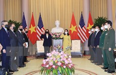 Phó Chủ tịch nước Võ Thị Ánh Xuân tiếp Phó Tổng thống Hoa Kỳ Harris