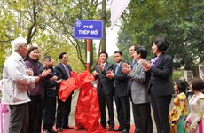 Lễ đặt tên nhà báo Thép Mới cho một phố của Thủ đô
