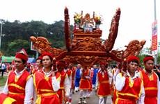 Đặc sắc lễ rước kiệu của 6 xã vùng ven về Đền Hùng