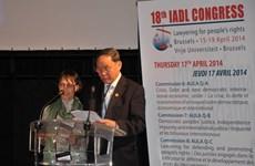 Việt Nam dự Đại hội Hội luật gia dân chủ quốc tế ở Bỉ
