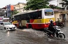 Mưa to tại thủ đô Hà Nội gây nhiều điểm úng ngập cục bộ