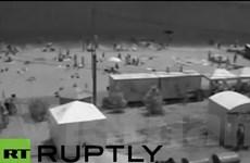 Sóng thần bất thường ập vào bờ biển Odessa, 6 người bị thương