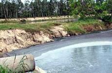 Bắt quả tang doanh nghiệp xả nước thải chưa xử lý ra môi trường