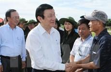 Chủ tịch nước Trương Tấn Sang thăm huyện đảo Bạch Long Vĩ