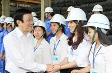 Chủ tịch nước làm việc với cán bộ chủ chốt tỉnh Ninh Bình