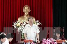 Tiểu ban Văn kiện Đại hội Đảng làm việc với Thường vụ Vĩnh Long
