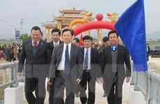 Quảng Bình khánh thành cầu vượt sông giúp học sinh đến trường