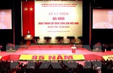 Điện mừng kỷ niệm 85 năm Ngày thành lập Đảng CS Việt Nam
