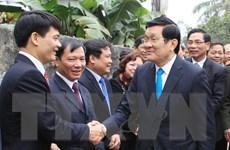 Chủ tịch nước tặng quà gia đình chính sách tại Hà Nam