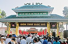 Hậu Giang: Hơn 10.000 lượt người đến viếng Đền thờ Bác Hồ