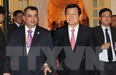 Chủ tịch nước Trương Tấn Sang tiếp đoàn Ban Chấp hành IPU