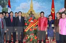 Thắm tình anh em Việt-Lào ngày Tết cổ truyền Bun-pi-may 2015