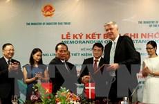 Việt Nam-Đan Mạch ký bản ghi nhớ hợp tác năng lượng tái tạo