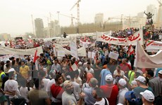 Đụng độ giữa lực lượng cảnh sát và người biểu tình tại Liban