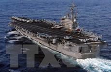 Siêu tàu sân bay Mỹ USS Ronald Reagan thăm cảng Hàn Quốc