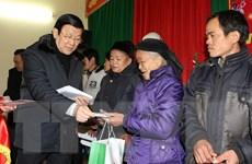 Chủ tịch nước Trương Tấn Sang thăm và làm việc tại Lạng Sơn