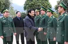 Chủ tịch nước dâng hương tưởng niệm liệt sĩ tại Cao Bằng, Bắc Kạn
