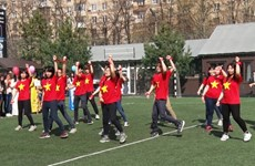Tưng bừng Đại hội thể thao sinh viên Việt Nam tại Moskva Hè 2016