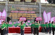"""Ra quân đội tình nguyện """"Hỗ trợ du lịch Thăng Long-Hà Nội"""""""