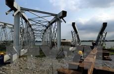 Chiều nay, bắt đầu lắp nhịp cầu Ghềnh bắc qua sông Đồng Nai