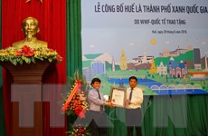 Huế - thành phố xanh quốc gia của Việt Nam trong năm 2016