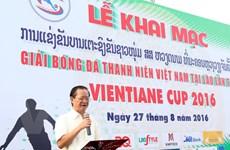 Tuổi trẻ Việt Nam ở Lào quyên góp 7.000 USD gây quỹ từ thiện