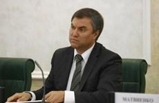 Ông Vyacheslav Volodin được bầu làm Chủ tịch Duma quốc gia Nga