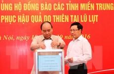 Các cơ quan và tỉnh thành quyên góp ủng hộ đồng bào miền Trung