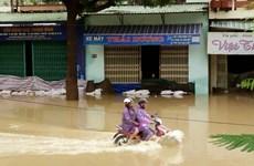 Mưa lũ gây thiệt hại nặng nề ở 2 tỉnh Bình Định và Đắk Lắk