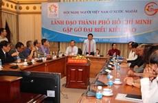 Lãnh đạo TP Hồ Chí Minh gặp gỡ đại biểu kiều bào tiêu biểu