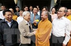 Tổng Bí thư dự Ngày hội đại đoàn kết toàn dân tộc ở Bắc Ninh