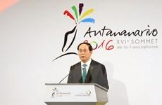 Hoạt động của Chủ tịch nước bên lề Hội nghị Cấp cao Pháp ngữ