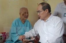 Chủ tịch Mặt trận Nguyễn Thiện Nhân làm việc tại tỉnh Trà Vinh