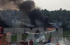 Cháy tàu cá tại tỉnh Quảng Ngãi, gây thiệt hại hơn 3 tỷ đồng