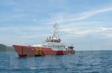 Bà Rịa-Vũng Tàu: 8 thuyền viên tàu cá bị chìm đã về bờ an toàn