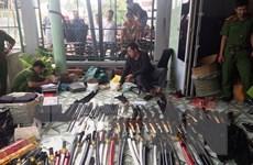 Phát hiện điểm tàng trữ trái phép vũ khí quân dụng với số lượng lớn