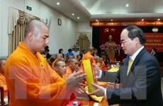 Chủ tịch MTTQ tiếp đoàn đại biểu phật giáo và kiều bào Thái Lan