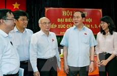 Chủ tịch nước Trần Đại Quang tiếp xúc cử tri TP Hồ Chí Minh