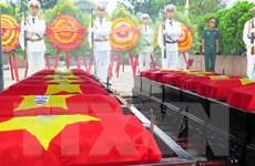 Bàn giao, tiễn đưa hài cốt quân tình nguyện và chuyên gia Việt ở Lào