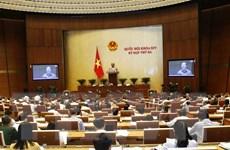 Các đại biểu Quốc hội thông qua dự thảo Luật Quản lý ngoại thương