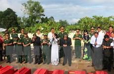 An Giang tổ chức an táng 168 hài cốt liệt sỹ qua các thời kỳ