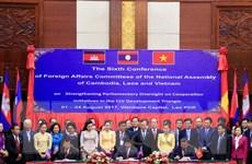 Ủy ban Đối ngoại Quốc hội Campuchia-Lào-Việt tăng cường hợp tác