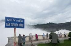 Thủy điện Hòa Bình mở cửa xả thứ tám do nước hồ chứa dâng cao