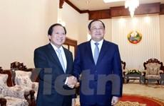 Lãnh đạo Lào đánh giá cao hợp tác về thông tin-truyền thông Lào-Việt