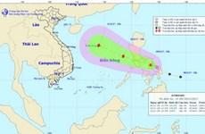 Trong 24 giờ tới áp thấp nhiệt đới có khả năng mạnh lên thành bão
