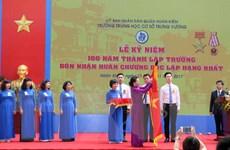 Chủ tịch Quốc hội dự lễ kỷ niệm 100 năm trường THCS Trưng Vương