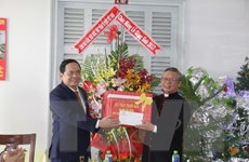 Chủ tịch Mặt trận Trần Thanh Mẫn thăm, chúc mừng Giáng sinh ở Cần Thơ