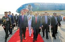 Chủ tịch nước Trần Đại Quang bắt đầu thăm cấp Nhà nước tới Bangladesh