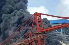 Cháy ở bể sục khí của Nhà máy nhiệt điện Duyên Hải 3 mở rộng